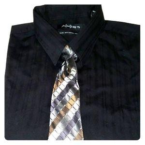 Axist Shirts - Mens Shirt & Tie Set